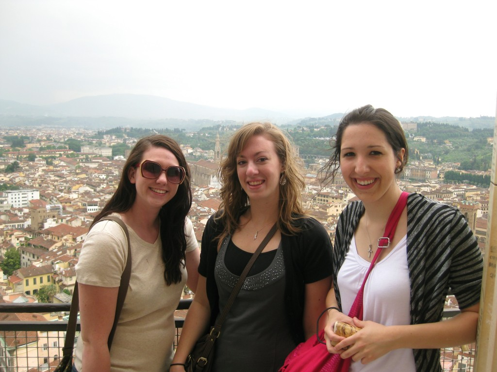 Some classmates and I at the top of the Duomo in Florence, Italy.