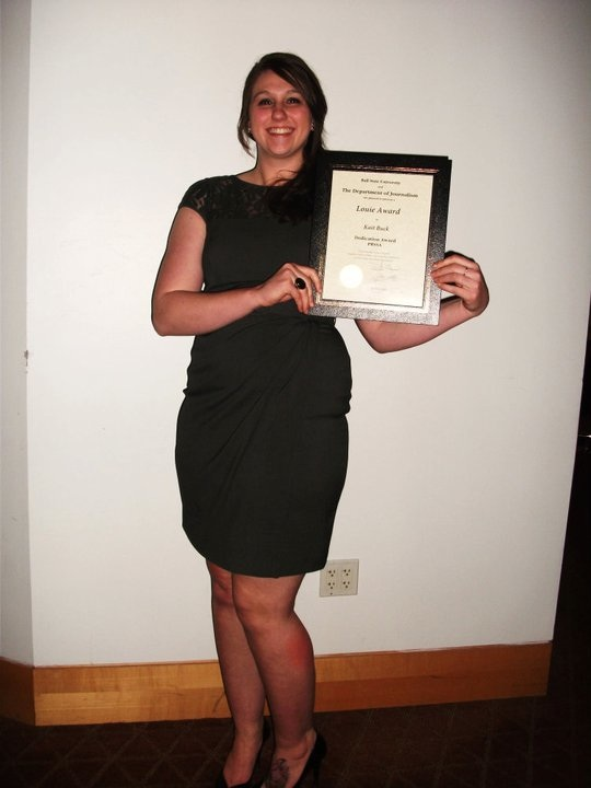 Me + my award at the 2011 Louies!